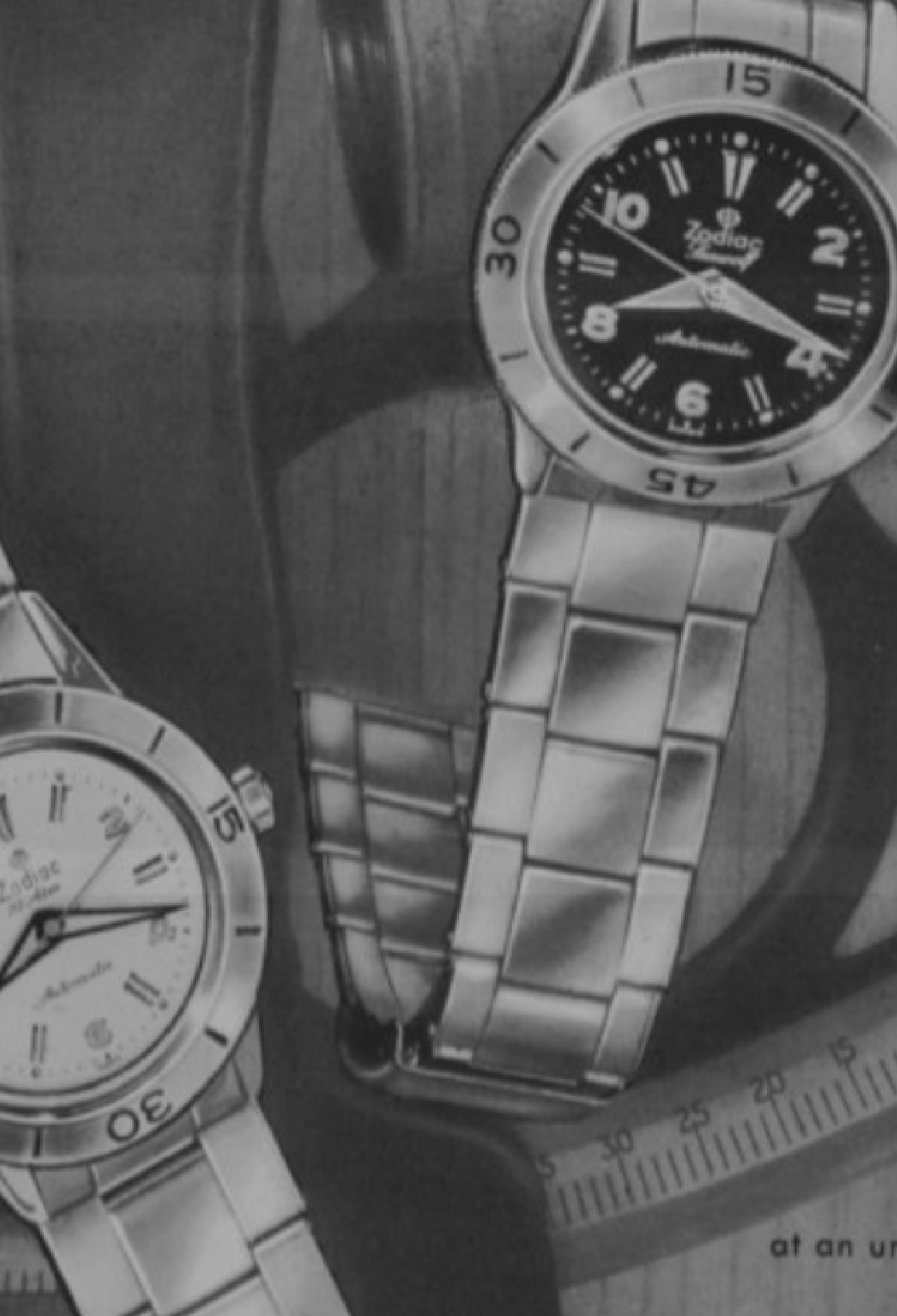 A vintage ad for the Super Sea Wolf Skin Diver
